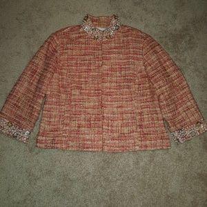 Chico's embellished boucle blazer